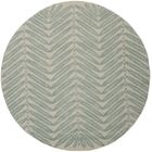 Chevron Leaves Hand-Tufted Blue Fir Area Rug Rug Size: Round 6' x 6'