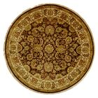 Dynasty Cola/Beige Area Rug Rug Size: Round 6'