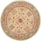 Pritchard Hand Knotted Area Rug Rug Size: Round 6'