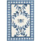 Kinchen Ivory/Blue Bumblebee Area Rug Rug Size: Rectangle 7'9