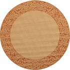Barhill Natural/Terra Outdoor Rug Rug Size: Round 6'7