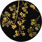 Armstrong Black Area Rug Rug Size: Round 8'