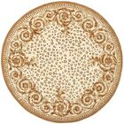 Naples Sand/Stone Area Rug Rug Size: Round 8'