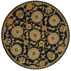 Anatolia Hand-Woven Wool Navy/Gold Area Rug Rug Size: Round 6'