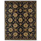 Anatolia Hand-Woven Wool Navy/Gold Area Rug Rug Size: Rectangle 5' x 8'