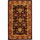 Thao Hand-Woven Wool Olive/Rust Area Rug Rug Size: Rectangle 3' x 5'