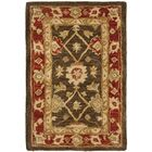 Thao Hand-Woven Wool Olive/Rust Area Rug Rug Size: Rectangle 6' x 9'