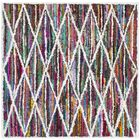 Anaheim Hand Tufted White/Pink Area Rug Rug Size: Square 6'