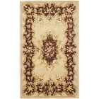 Bergama Ivory/Rust Area Rug Rug Size: Rectangle 6' x 9'