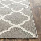 Dhurrie Hand-Woven Wool Light Gray/Ivory Area Rug Rug Size: Runner 2'6