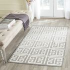 Dhurries Handmade Wool Gray/Ivory Area Rug Rug Size: Rectangle 4' x 6'