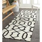 Dhurries Wool Ivory/Charcoal Area Rug Rug Size: Rectangle 8' x 10'