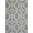 Dhurries Hand-Tufted Wool Gray/Ivory Area Rug Rug Size: Rectangle 3' x 5'