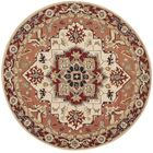 Chelsea Red / Ivory Outdoor Area Rug Rug Size: Round 5'6