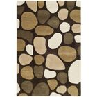 Boone Dark Brown Area Rug Rug Size: Rectangle 7'6