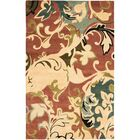 Colette Rust / Multi Contemporary Rug Rug Size: Rectangle 3'6