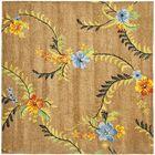 Eldridge Brown Floral Area Rug Rug Size: Square 8'