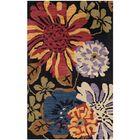 Jardin Black/Multi Floral Area Rug Rug Size: Rectangle 4' x 6'