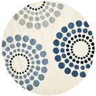 Peralta Ivory Rug Rug Size: Round 6'