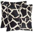 Antonio Cow Hide Suede Throw Pillow Size: 22