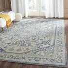 Newborn Power Loom Light Gray & Blue Area Rug Rug Size: Rectangle 9' x 12'