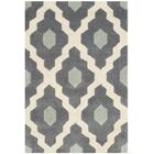 Wilkin Dark Gray/Ivory Moroccan Area Rug Rug Size: Rectangle 8'9