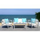 Delray 4 Piece Sofa Set with Cushions Frame Color: Gray Wash
