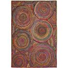 Bowen Hand-Woven Red/Yellow/Puple Area Rug Rug Size: Oval 5' x 8'