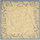Alberty Natural / Blue Outdoor Area Rug Rug Size: Square 6'7