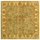 Taylor Hand-Tufted Wool Green/Gold Area Rug Rug Size: Square 6'