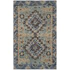 Bobigny Southwestern Hand-Tufted Blue Area Rug Rug Size: Rectangle 5' x 8'