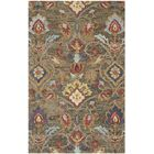 Elford Hand-Tufted Wool Green Area Rug Rug Size: Rectangle 6' x 9'