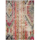 Alfred Abstract Grey/Orange/Pink Area Rug Rug Size: Rectangle 6'7