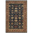Larkson Hand-Knotted Navy Area Rug Rug Size: Rectangle 9' x 12'