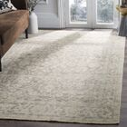 Kline Hand-Knotted Wool Light Gray Area Rug Rug Size: Rectangle 9' x 12'