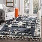 Maffei Knotted Cotton Charcoal Area Rug Rug Size: Rectangle 9' x 12'