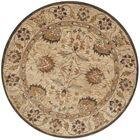 Copenhagen Hand-Tufted Wool Beige Area Rug Rug Size: Round 6'