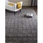 Somnus Hand-Knotted Charcoal Area Rug Rug Size: Rectangle 2' x 3'