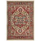 Quentin Beige/Red Area Rug Rug Size: Rectangle 3'3