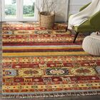 Russell Hand Hooked Yellow Area Rug Rug Size: Rectangle 8' x 10'