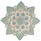 Thompson Hand Hooked Green/Beige Area Rug Rug Size: Round 4'
