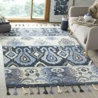 Niederanven Hand Knotted Wool Blue Area Rug Rug Size: Rectangle 8' x 10'