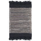 Glostrup Hand Tufted Black Area Rug Rug Size: Square 6'