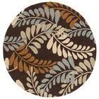 Modern Art Brown/Multi Rug Rug Size: Round 7'