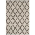 Quito Ivory/Gray Area Rug Rug Size: Rectangle 5'1