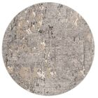 Edvin Gray Area Rug Rug Size: Round 6'7