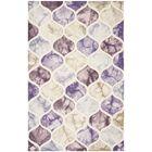 Corydon Hand Tufted Wool Purple/Ivory Area Rug Rug Size: Rectangle 5' x 8'