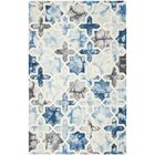 Corydon Hand Tufted Wool Dark Blue/Ivory Area Rug Rug Size: Rectangle 3' x 5'