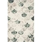 Corydon Hand Tufted Wool Gray/Ivory Area Rug Rug Size: Square 7' x 7