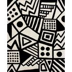 Hardin Hand Tufted Wool Ivory/Black Area Rug Rug Size: Rectangle 5' x 8'